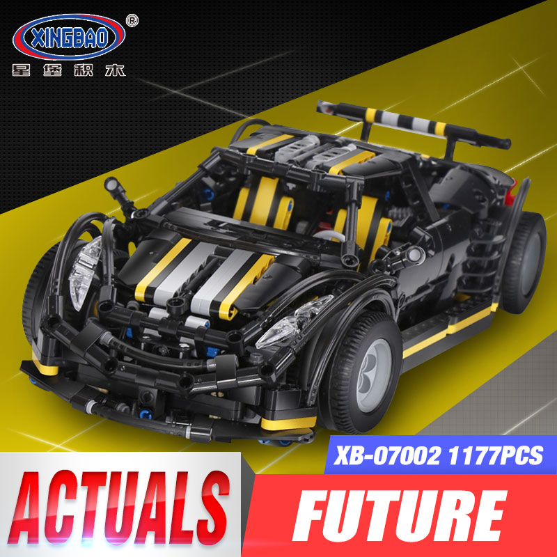 цена на XingBao 07002 1177Pcs MOC Series The Balisong small Supercar Set Children Educational Building Blocks Bricks Toys Birthday Gifts