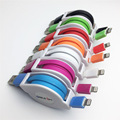 1m 2m 3m Colorful Flat Noodle Retractable Fast Charging 8Pin USB Data Sync Charger Cable for iPhone 7 6 6S Plus 5 5s SE iOS 10 9