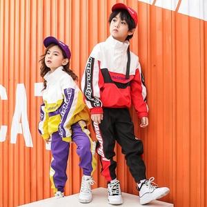 Image 3 - ילדים ספורט אימונית בני בנות 10 12 14 שנים היפ הופ תחפושות ילדים ג אז רחוב Dancewear בגדי ריקוד שלב הצג