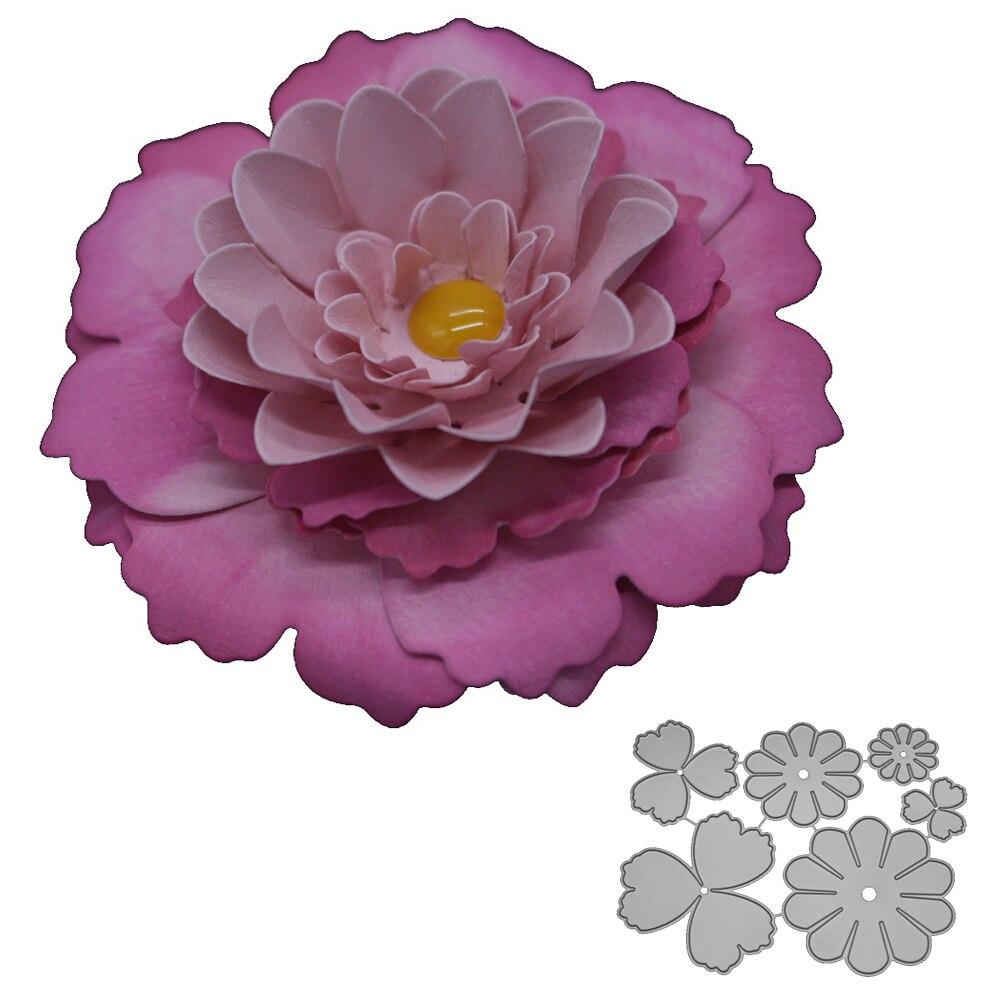 Bifujian Collage Daisy Flower Matel Cutting Die Crafts Embossing