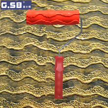 Free shipping Rubber Roller 7 #8243 Free shipping Net Pattern Paint Roller for Wall Decoration GSB tools NO 052 Paint tool cheap Paint Tool Sets Paint Decorating Case G.SB