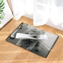 CAMMITEVER, alfombra cómoda negra y blanca para cocina de perros, alfombra antigua para el suelo de la cocina, Alfombra de escritorio, alfombras de colección Vintage