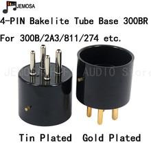 5PCS Bakelite Tube Socket 4Pins Electron Tube Seat Bakelite Tube Base For 300B 2A3 811 274 Vacuum Tube Free Shipping