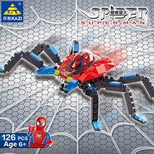 126Pcs Parent-child Game Super Hero Building Blocks Sets Spiderman Bricks Educational Toys for Children