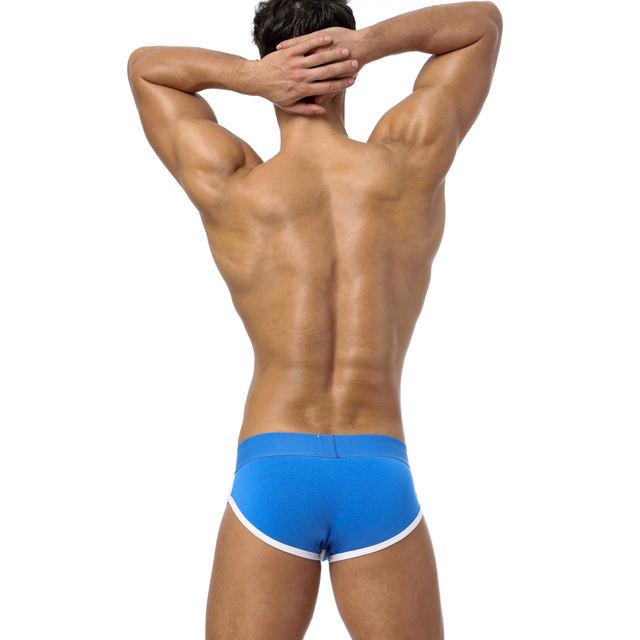 Brand Men Briefs Cotton Spandex Elastic Underpants Sexy breathable Cueca comfortable Men underwear Best Popular Sexy Briefs BS73