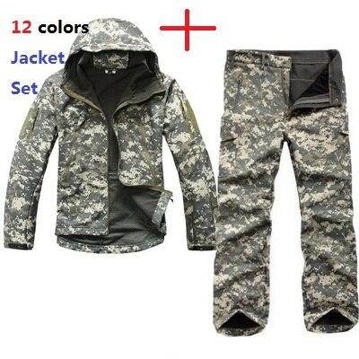 Мужская уличная спортивная TAD Экипировка мягкая оболочка камуфляжная тактическая куртка набор армейская водонепроницаемая охотничья одежда Пальто Военная куртка брюки
