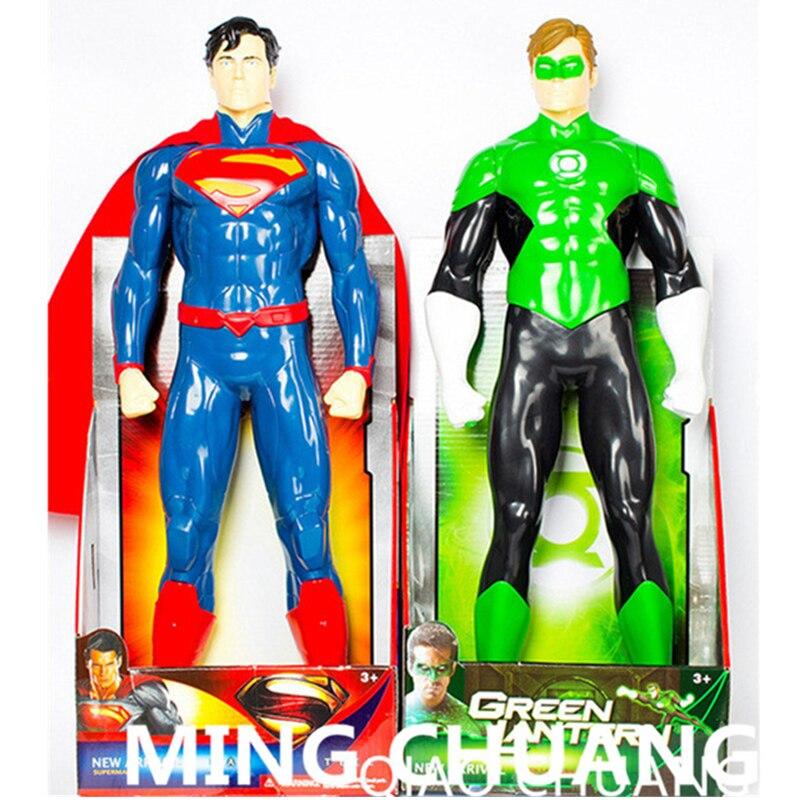 """19""""Justice League Superhero Superman Kal-El Green Lantern PVC 50CM Action Figure Collectible Model Toy BOX T42"""