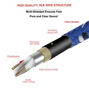 Image 5 - Bochara Nylon Braided XLR Cable Male to Female M/F 3Pin jack Extension Cable For Microphone Mixer 1m 1.8m 3m 5m 10m 15m 20m