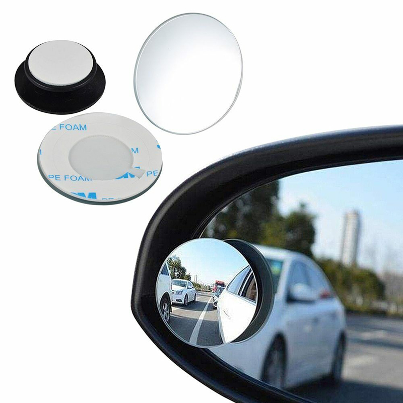 2pcs Universal Car Rear View Blind Spot Mirror Convex 360° Wide Angle Mirror