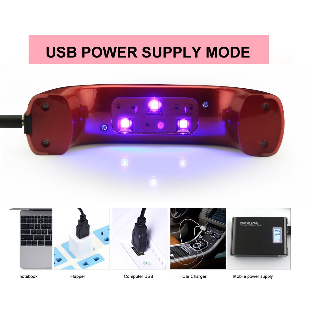 9 Watt LKE Uv lampe Nageltrockner LED Uv Nagel Lampe für UV Gel ...