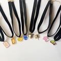 Europa Estados Unidos de la joyería al por mayor Japoneses harajuku cinta de terciopelo Negro mocha serie sakura collar collar