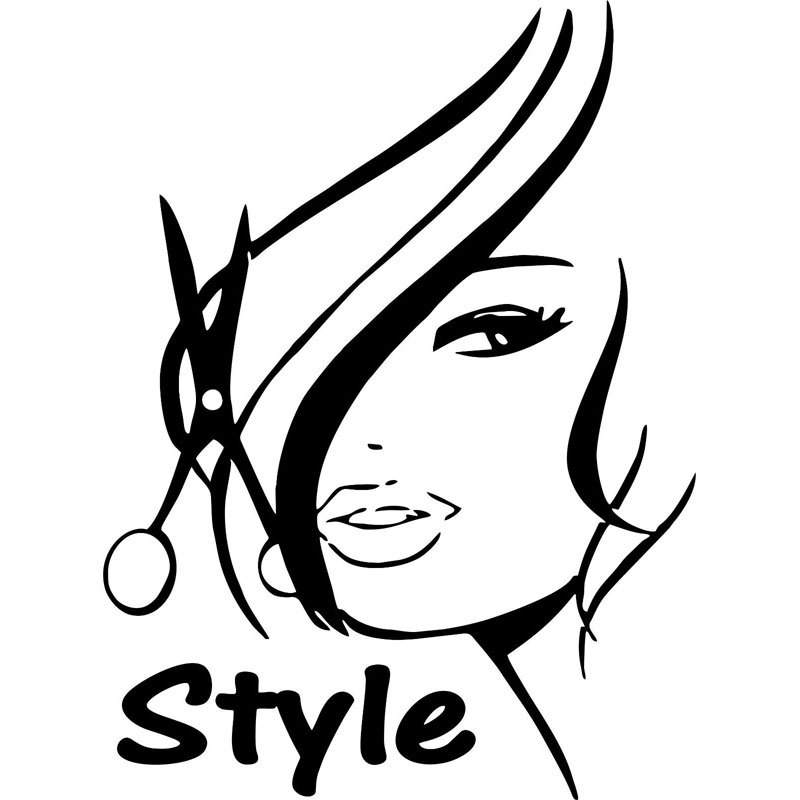 Popular Car Salon StickerBuy Cheap Car Salon Sticker Lots From - Hair stylist custom vinyl decals for car