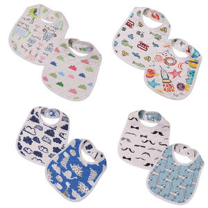 Burp-Cloths Bibs Saliva-Towel Food-Feeding Toddler Baby-Girl Dinner Double-Deck Infant