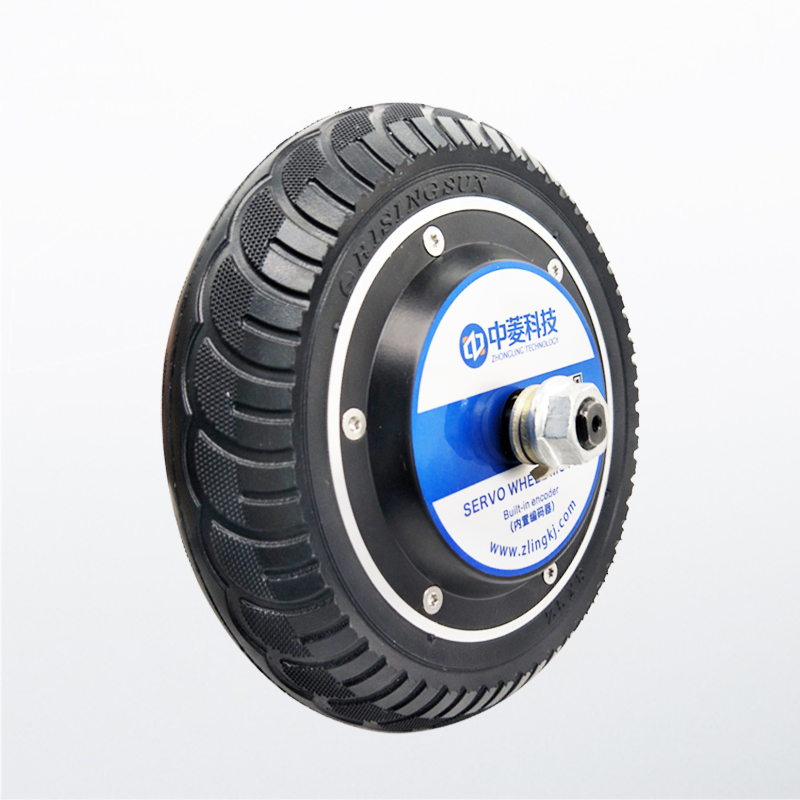 24 48V Single axis 8 inch robot wheel servo motor AGV Chassis Wheel Hub Motor Driver built in Photoelectric Encoder Y