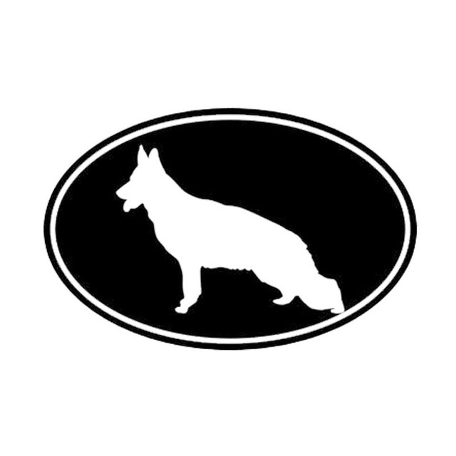 12.7*8.3CM German Shepherd Dog Vinyl Decal Stylish Car Stickers Car Styling Motorcycle Decoration Black/Silver S1-1464