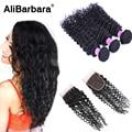 8A Brazilian Deep Wave With Closure 3 bundles Brazilian Virgin Hair With 1 Lace Closure Cheap Brazilian Deep Curly Hair Closure