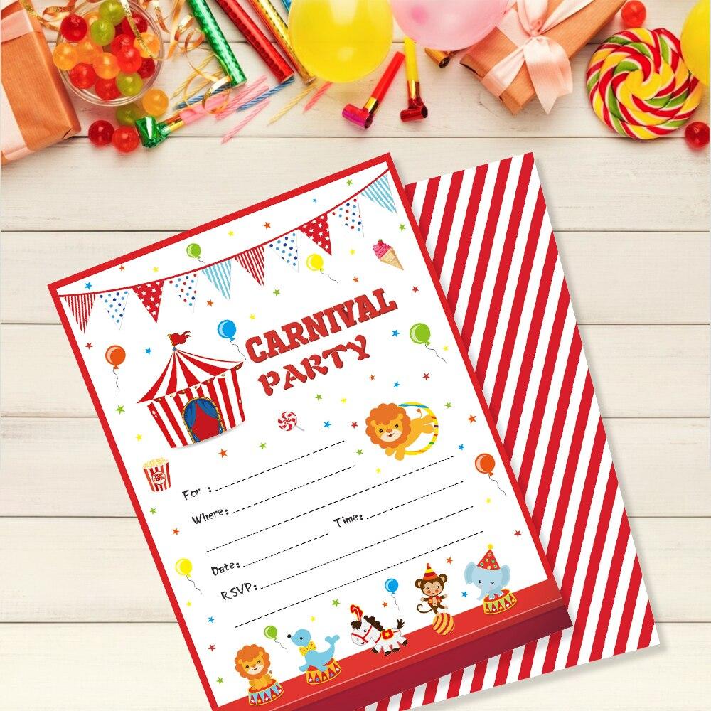 Cards Birthday Party Invitations