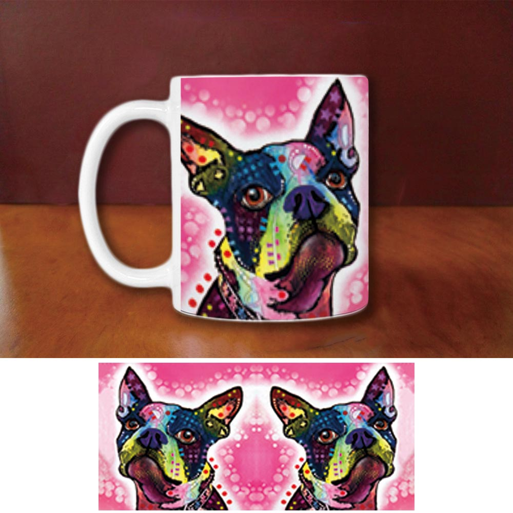Fashion Boxer Boston Terrier Coffee Mugs So Cute Dog Creative Animal White Ceramic Mug Custom Birthday Gifts For Family Friends