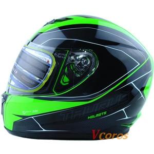 Image 2 - Vcoros neue ankunft XS größe motorrad helm winter volle gesicht racing helm capacete motoqueiro
