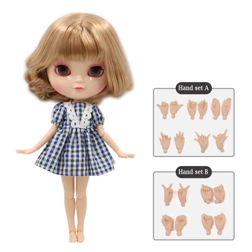 Azone BONECA ICY peito pequeno corpo fortuna dias BL3227/2240 golden mix marrom cabelo com bangs/franjas 30cm
