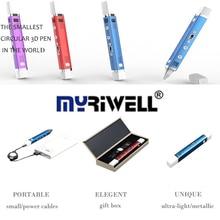 3D Impresora Myriwell Pluma Marca Mágica Pluma Impresión 3D Juguete Educativo Del Cabrito de 1.75mm ABS/PLA 3D USB Pen