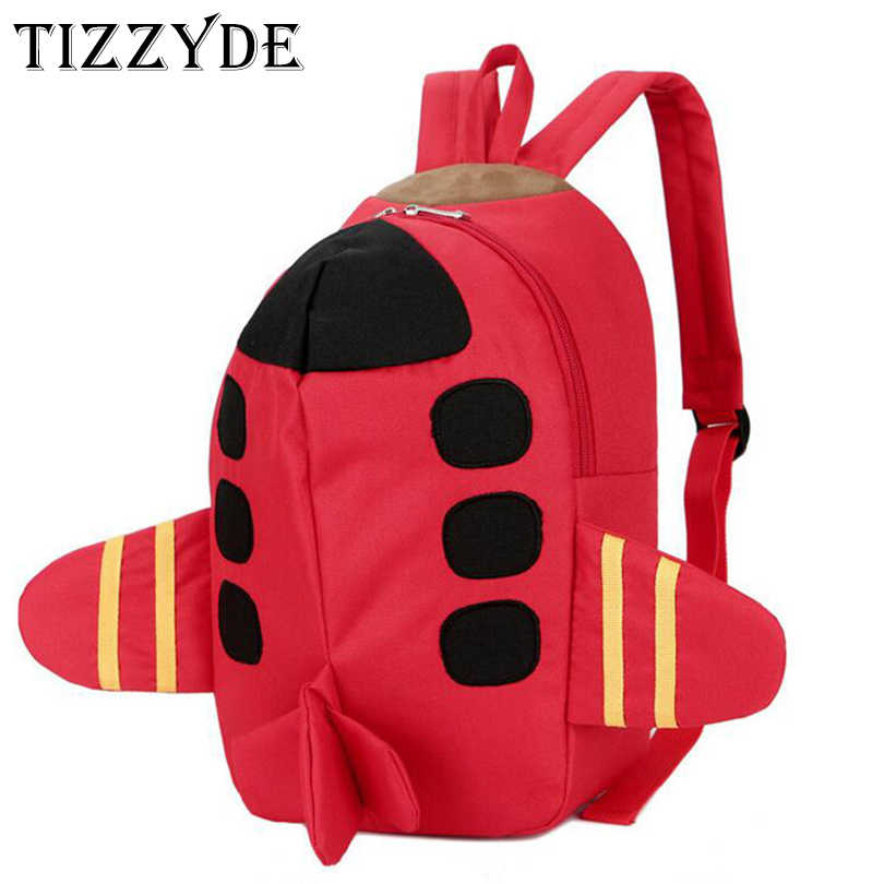 3D Aircraft Cute Children Cartoon Embroidery School Backpack For 1-6 Years Old Boys And Girls Lovely Cartoon Schoolbag GJH10