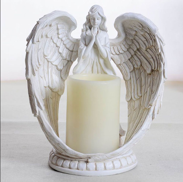 European Resin Angel Candle Holder Electronic The S Prayer Candlestick Wedding Home Decoration Sconce In Holders From Garden On