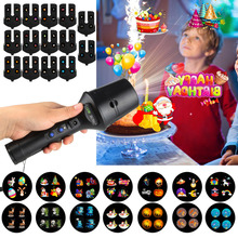14 Patterns LED Laser Projector 18650 BatteryRechargeable Flashlight Projection for party/ktv