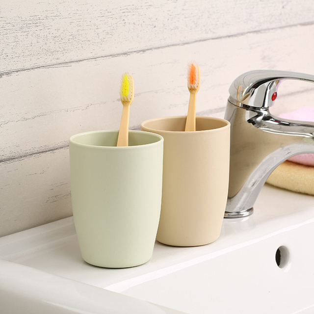 Japanese Style Thick Circular Cups Toothbrush Holder Cup PP Rinsing Cup  Wash Tooth Mug Bathroom