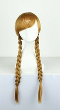 Top quality Ana hair jewelry  270g 60cm synthetic hair accessories for  Elsa cosplay wigs
