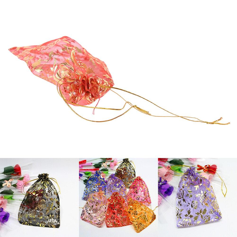 10 Stks Willekeurige Gemengde Gold Drawable Organzation Gift Tassen & Zakjes 13x18 Cm Gift Bags Sieraden Verpakking Zak Gift Bag Pouches