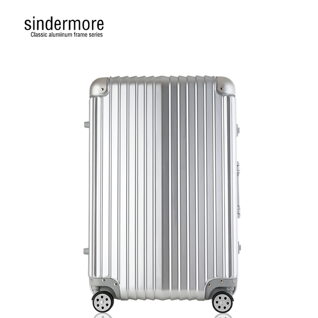 Sindermore 24' High-end classic Aluminum frame Password TSA luggage Hard surface trolley Business fashion Leisure travel Luggage