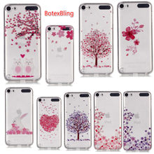 4fb62c504e BotexBling Coque 用ソフトシリコン Tpu ケースアップルの Ipod Touch の 5 タッチ 6 バック Ipod Touch5  touch6 花クリア電話ケー