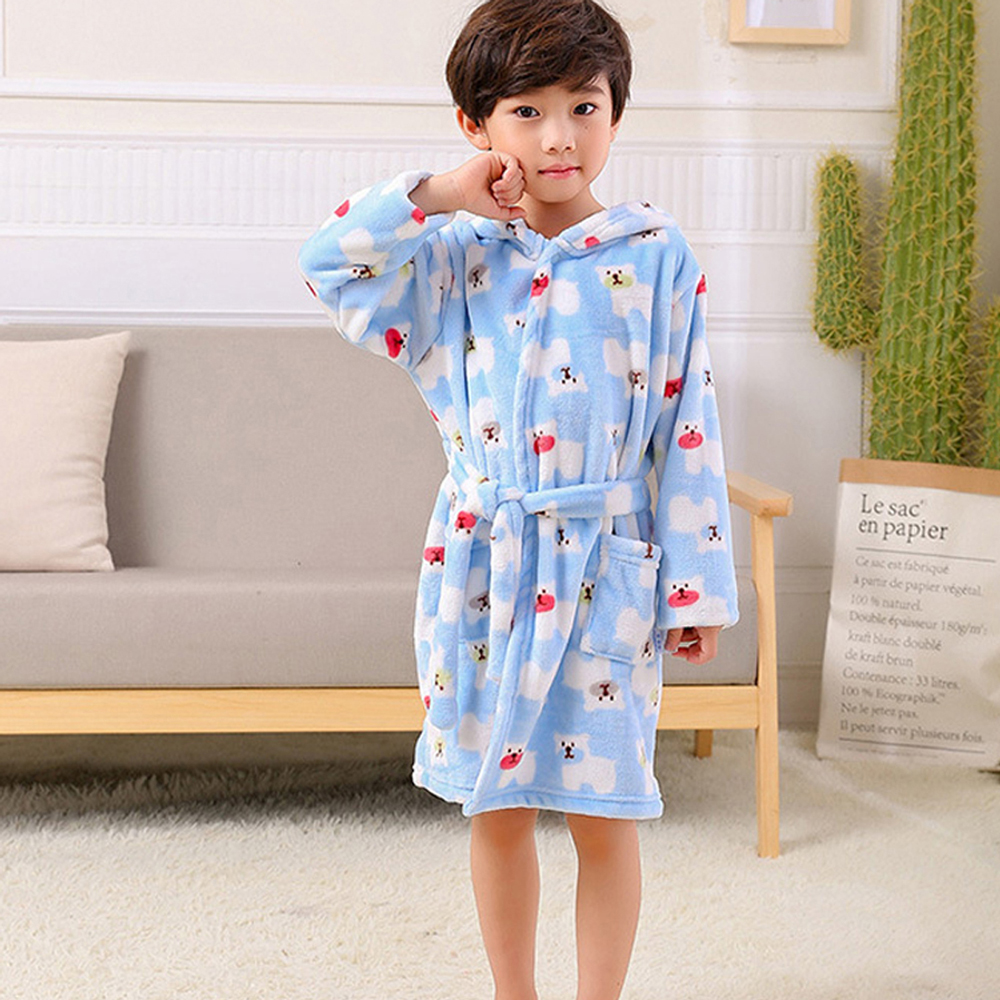 My home Warm Padded Boys and Girls Baby Bathrobes