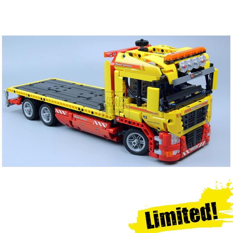 LEPIN 20021 Flatbed Truck Technic Model Building Block Bricks Toys Enlighten For Boys oyuncak 1143PCS Compatible legoINGly 8109