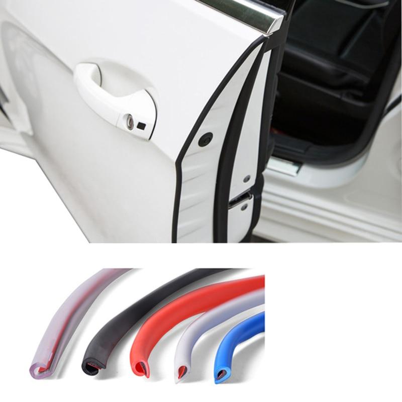 Car SUV Door Edge Bumper Decorative Protector Anti-Collision Crash Bar Strip 4PC