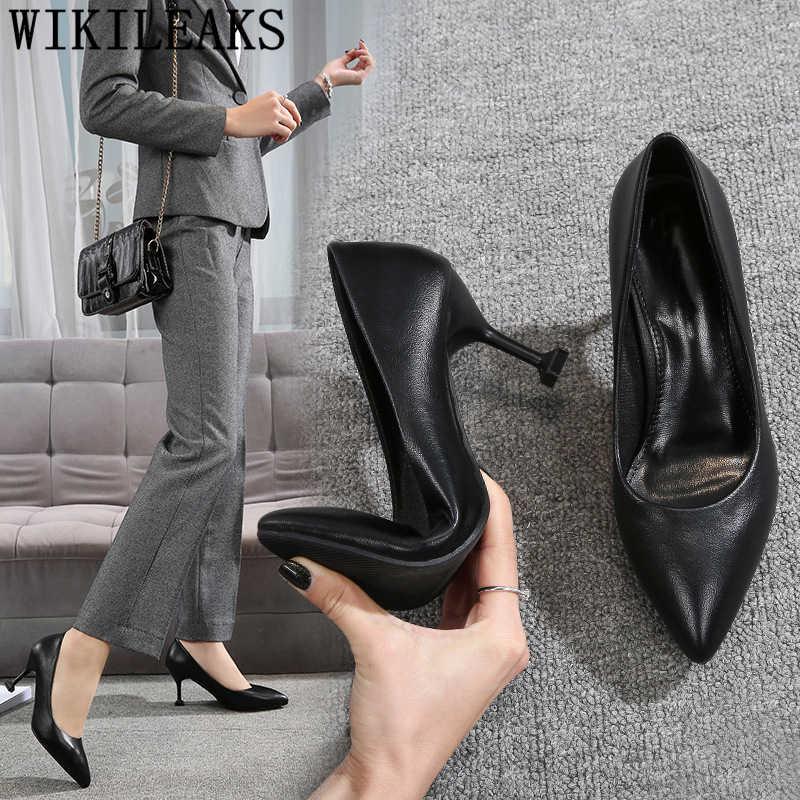 Ufficio tacchi eleganti scarpe 2019 nuove pompe per le donne sexy scarpe da donna tacchi gattino zeppe scarpe per le donne fetish high tacchi buty
