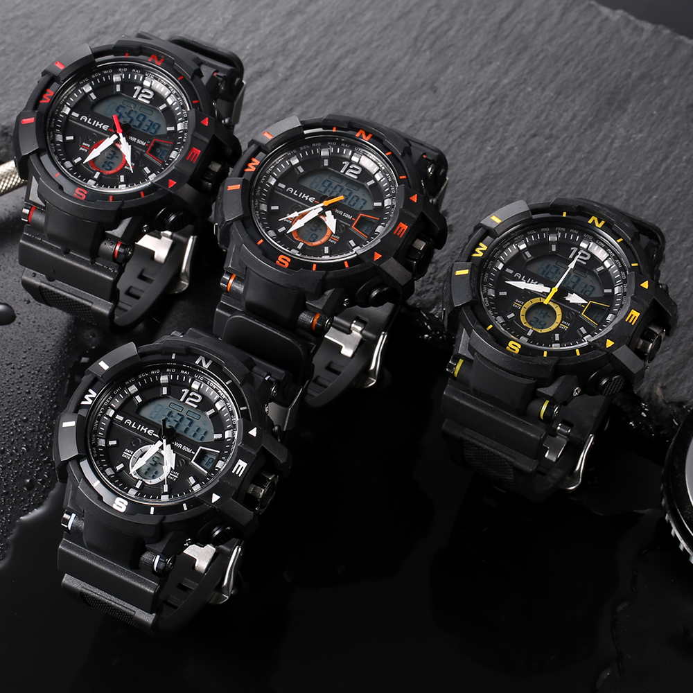 3fb8bf2a9aa Brand ALIKE 2018 New Casual Watch Men G Style Waterproof Sports Military Watches  Shock Men s Luxury Analog Quartz Digital Watch-in Quartz Watches from ...