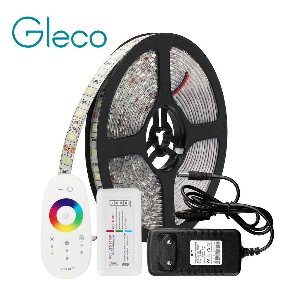 dc24v-led-strip-set-rf-remote-control-high-brightness-5050-60leds-m-5m-lot-led-tape-flexible-strip-light-rgb-whitewarm-white