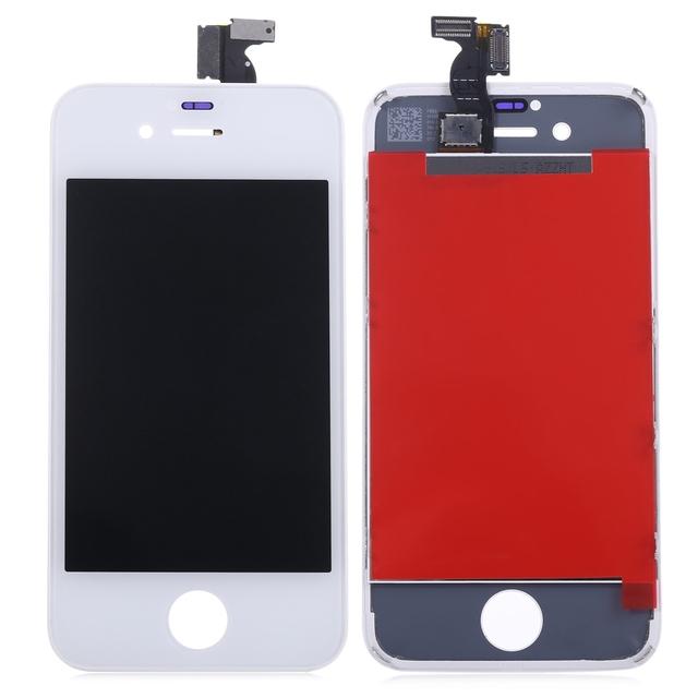 Para el iphone 4s reemplazo lcd + montaje de la pantalla táctil de cristal panel digitalizador kit de herramientas de reparación para el iphone 4s w/apoyo marco