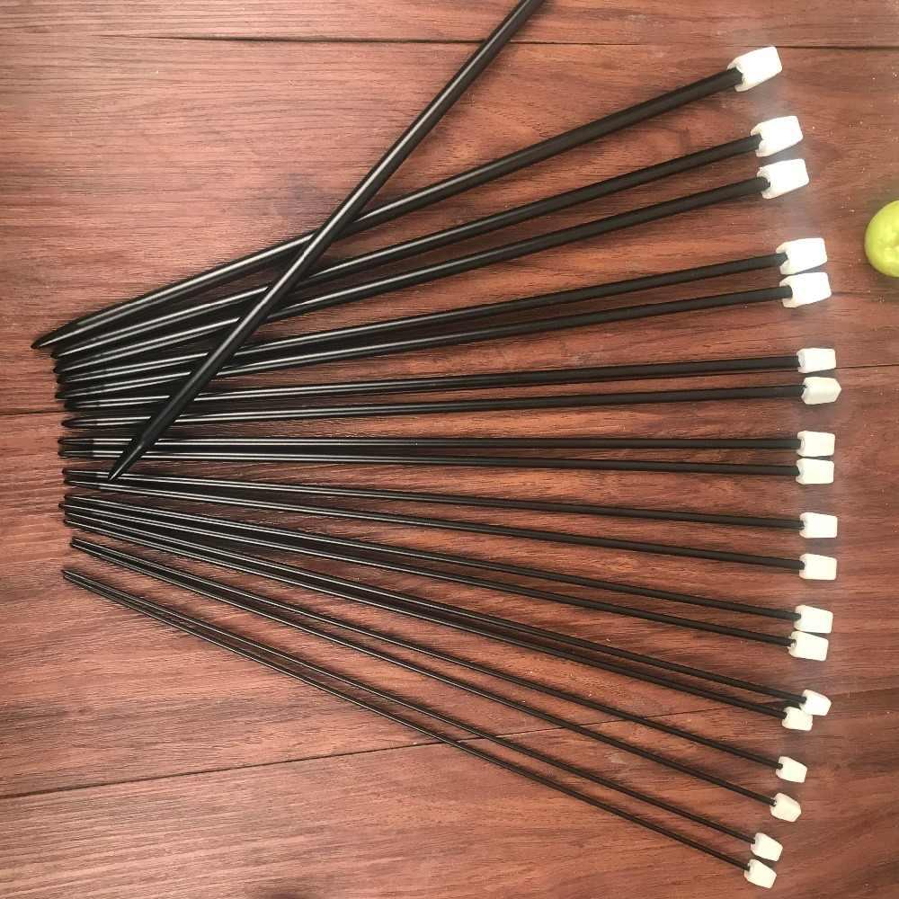 20 Buah/Set 35 Cm Hitam Stainless Steel Single Menunjuk Jarum Rajut Crochet Hook Alat Kerajinan Rajut Jarum Set 2.5 Mm -8.0 Mm