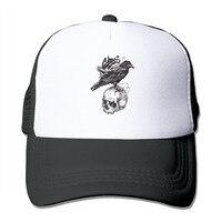 לשני המינים Corvus corone מצחיק כובע בייסבול Snapback כובע נהג משאית רשת