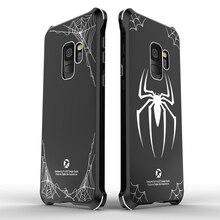 Алюминий бампер с акриловой задняя крышка Броня Человек-паук Железный человек чехол для samsung Galaxy S9 плюс примечание 9 Примечание 8 чехол