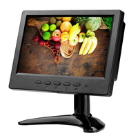 ZHIXIANDA H0716 7 inch 1024*600 16:9 AV BNC VGA HDMI signal portable mini LCD screen monitor with two speakers