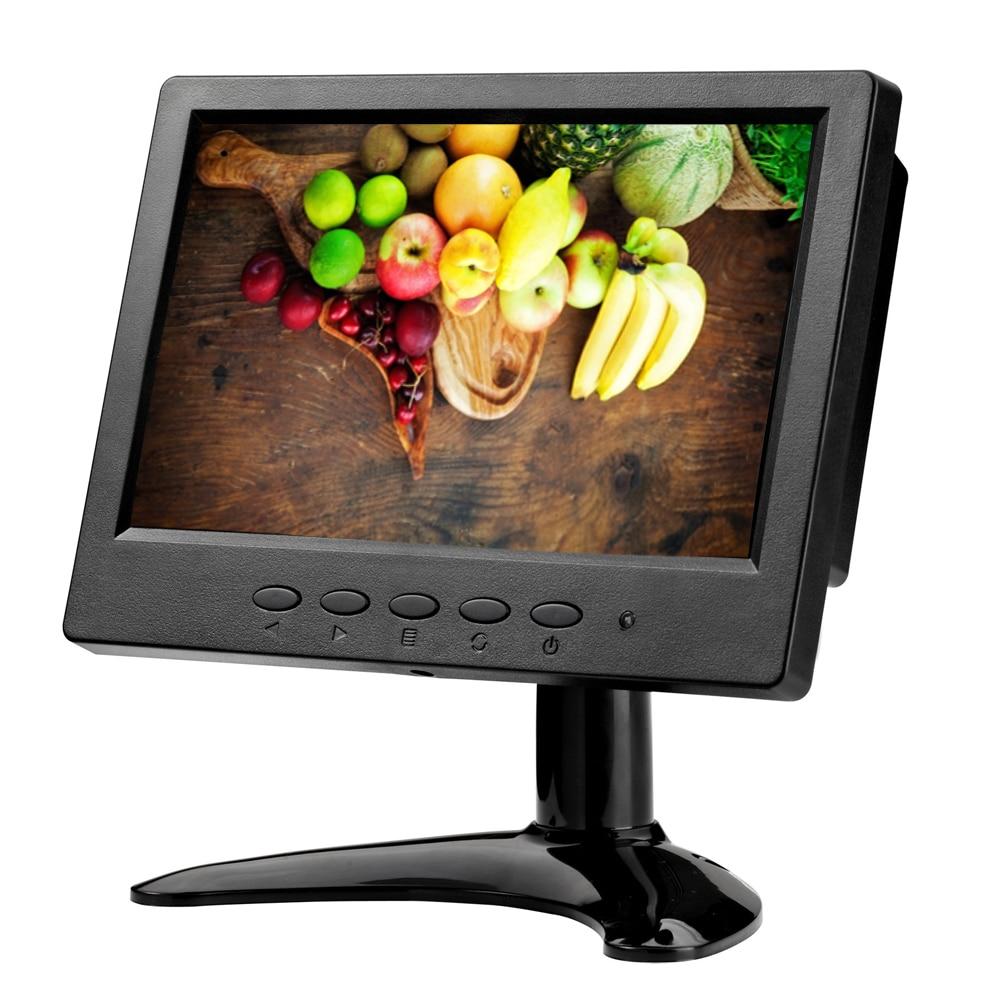 все цены на ZHIXIANDA H0716 7 inch 1024*600 16:9 AV BNC VGA HDMI signal portable mini LCD screen monitor with speakers онлайн