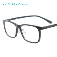 Mannen Rechthoekige Flexibele Plastic Lichtgewicht TR90 Computer Bril Vrouwen Brillen Met Anti Blauw Licht