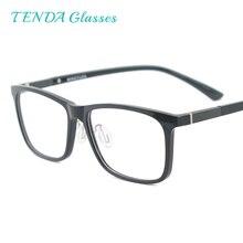 الرجال مستطيلة مرنة البلاستيك خفيفة الوزن TR90 نظارات الكمبيوتر النساء النظارات مع مكافحة الضوء الأزرق
