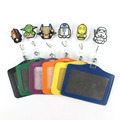 Star Wars Silicone card case holder Bank Credit Card Holders Card Bus ID Holders Identity Badge with Cartoon Retractable Reel