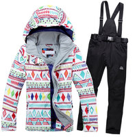 2016New Women Winter Snowboard Jacket Hot Sale Lady Snowboard Ski Suit Jacket Clothes Sets Pants Windproof
