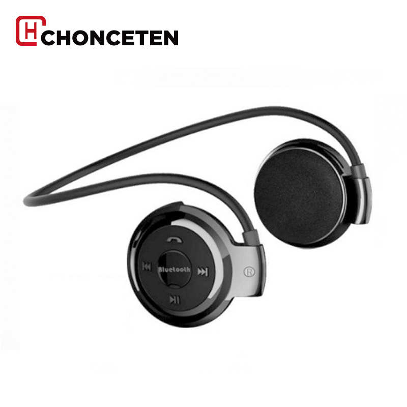 CHONCETEN Wireless Headphones Bluetooth Mini 503 Sport Music Stereo Earphones+Micro SD Card Slot+FM Radio Mini503 economic set original nia 8809s 8 gb micro sd card a set wireless headphone sport for tv with fm